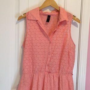Peach Eyelet Dress